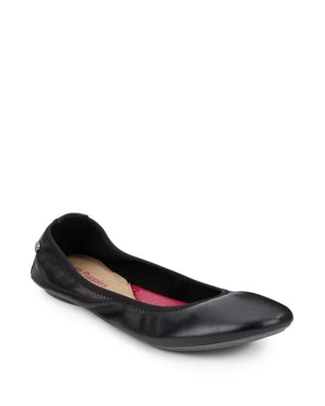 hush puppies chaste ballet hush puppies chaste leather ballet flats in black save 50 lyst