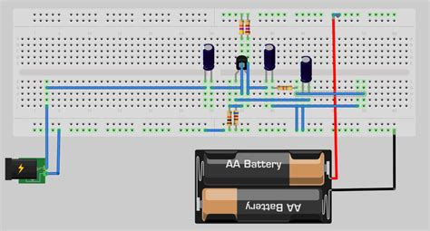 breadboard circuit ce lifier breadboard circuit a out