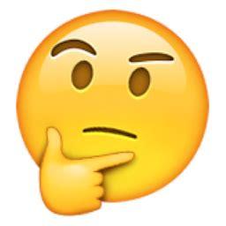 emoji question face thinking face emoji u 1f914