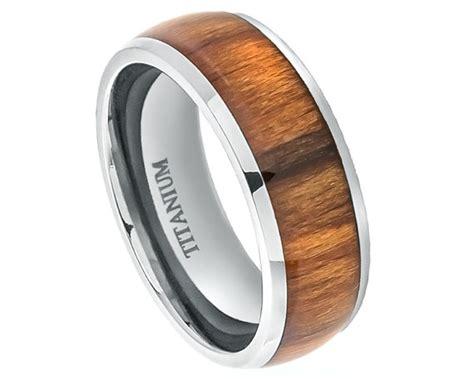 mens wedding rings with wood inlay wood rings titanium wedding band titanium ring promise