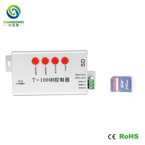 Controller Pixel Rgb Programmable Led With Sd Card And Software t 1000b sd card led pixel controller programmable spi signal output color dimmer max