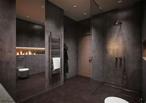 bathroom dark 50 shades of grey design edition