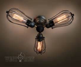 Uttermost Floor Lamp Vintage 3 Lights Industrial Ceiling Light Steampunk