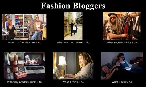 Warehouse Meme - what people think fashion bloggers do meme