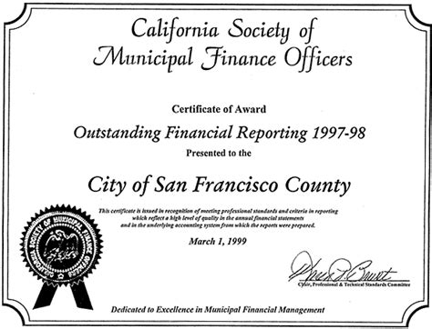 certificate of award office of the controller