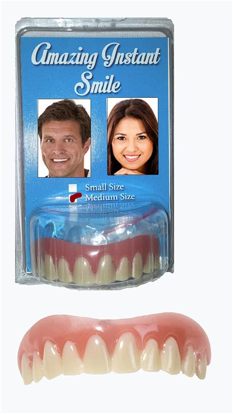 snap on smile hot water cosmetic teeth snap on instant perfect smile secure