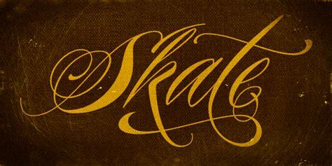 tattoo font piel script new tattoo font released