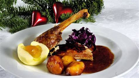 traditional danish christmas dishes in the top of denmark