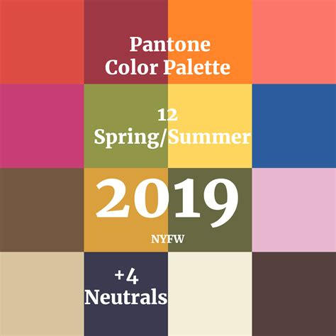 what are summer colors color palette pantone for summer 2019