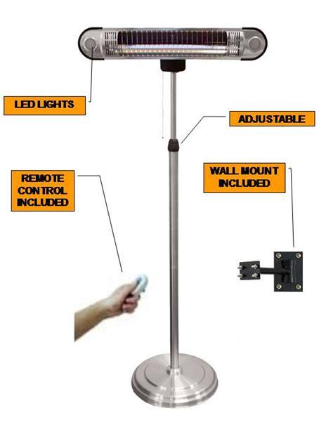 Hiland Indoor Outdoor Tall Adjustable Infrared Patio Rta International Patio Heater