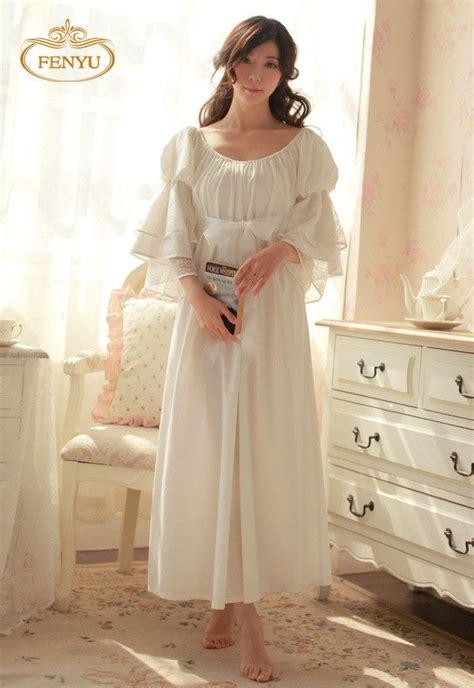 Royal Pyjamas B free shipping 100 cotton nightgown princess nightdress royal pijama sleepwear white