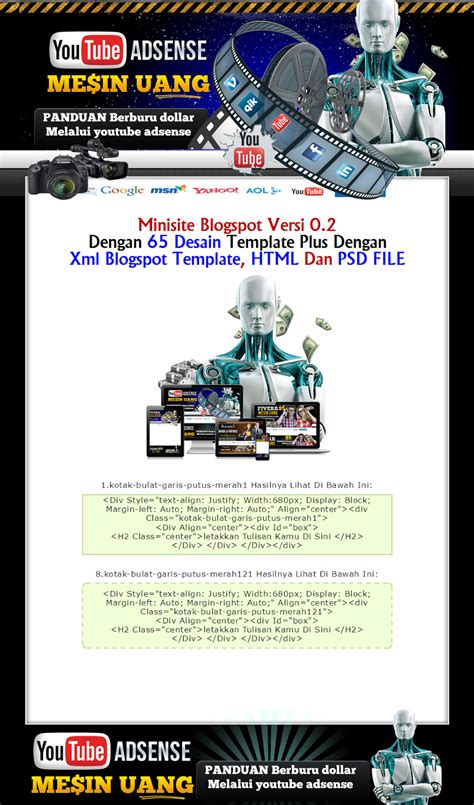 free minisite template minisite you ansense responsive free