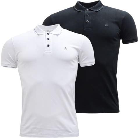 Plain Fit Shirt mens replay slim fit plain polo shirt ebay