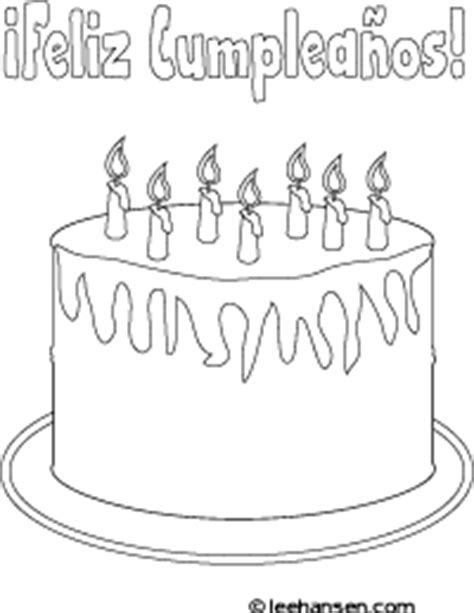 feliz compleanos colouring pages