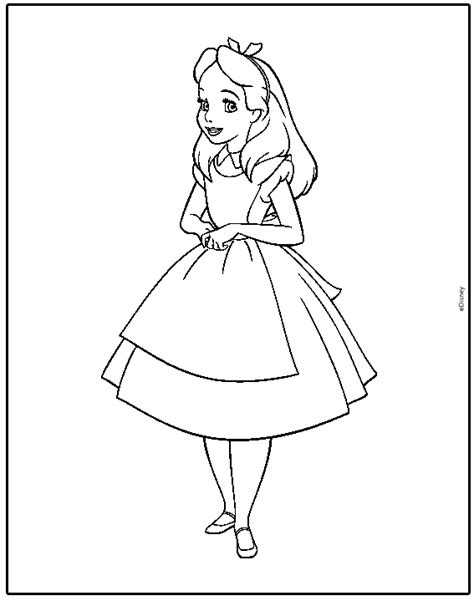 alice in wonderland coloring pages team colors
