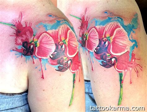 watercolor orchid tattoo my watercolor orchid from white rabbit nyc