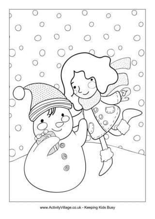 winter coloring pages middle school winter colouring pages for kids