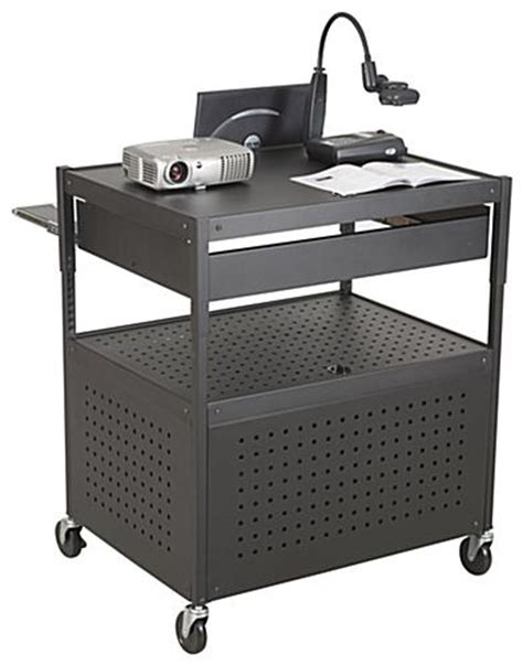 multimedia cart with locking cabinet multimedia cart w vented cabinet secure lock