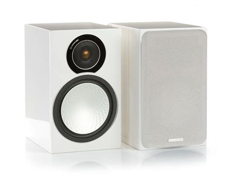 white bookshelf speakers monitor audio silver 2 gloss white bookshelf speakers