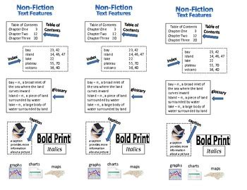 printable nonfiction bookmarks non fiction text features bookmark study guide by