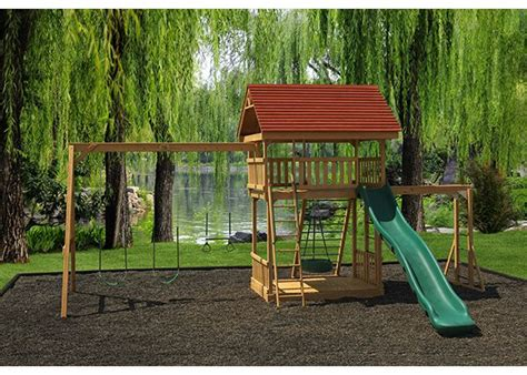 outdoor swing sets and playhouses 24 best outdoor playsets images on pinterest outdoor