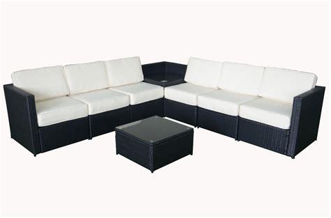 black outdoor sofa mcombo 8pcs black wicker patio sectional outdoor sofa