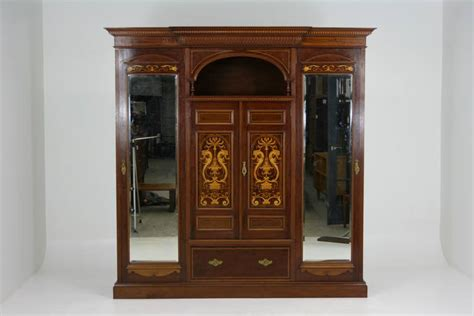 antique english armoire antique english neoclassical inlaid mahogany armoire or