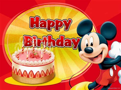 Mickey Mouse Wishing Happy Birthday Birthday Mickey Mouse Hd Happy Birthday