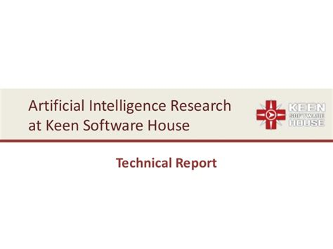 keen software house artificial general intelligence research project at keen software hou