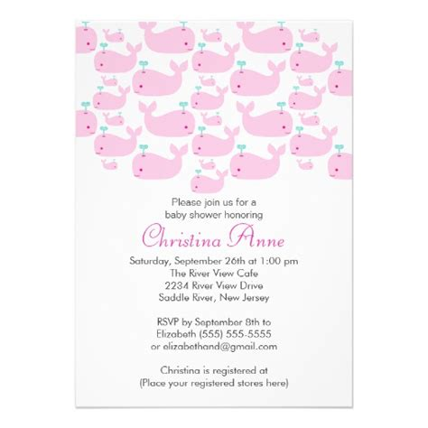 Shops That Sell Baby Shower Stuff by Baby Whale Baby Shower Invitations Zazzle