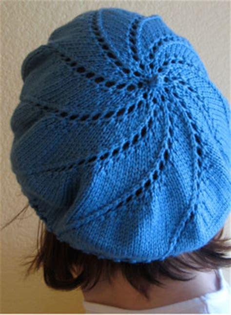 beret knitting pattern easy free whirlpool beret pattern knitting patterns and crochet
