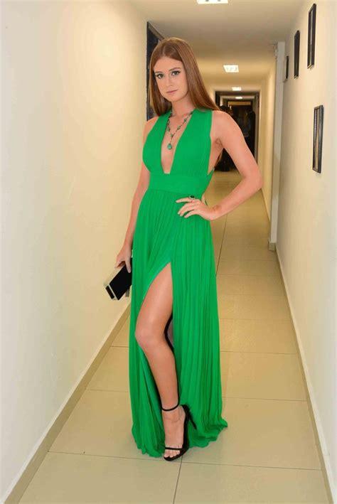Marina Longdress Bisa Custom chiffon prom dress v neck prom dress high