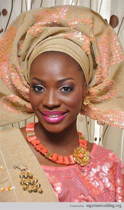 nigerian aso oke nigerian traditional engagement ceremony peach aso oke