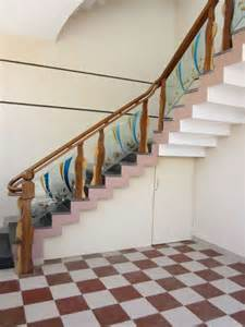 Stairs Wooden Railing by Wooden Glass Railing Wood Stairs Glass Staircase In