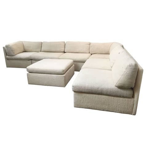 thayer coggin sectional sectional sofa by milo baughman for thayer coggin at 1stdibs