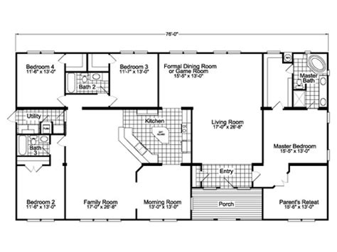 palm harbor floor plans view the gotham triple wide home floor plan for a 2952 sq