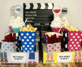 Home Theater Decorations Cheap slumber party ideas for all ages moms amp munchkins