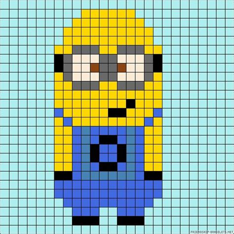 minion bead pattern minion perler bead pattern spoggy