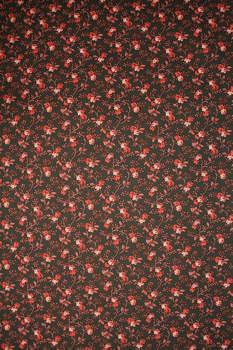 small pattern vintage wallpaper red and black flower wallpaper romantic wallpaper