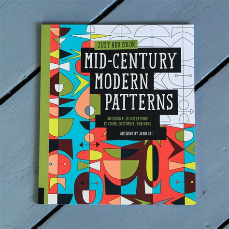 mid century patterns mid century modern patterns colouring in for grown ups by