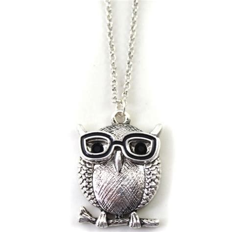 Charm Liontin Natal Besi Silver vintage silver owl doctor chain necklace jewelry natal vintage silver and doctors