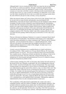 Joseph Stalin Essay stalin essay