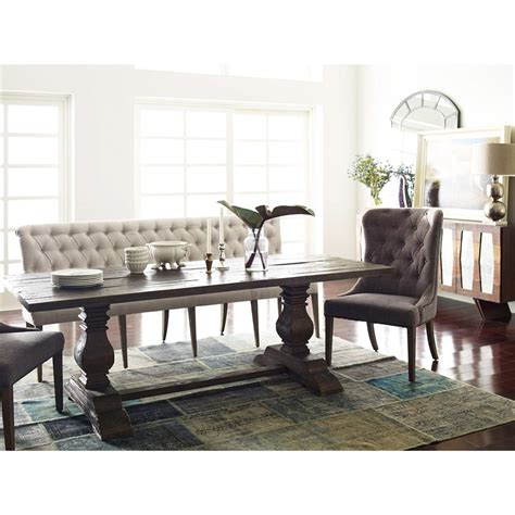 long banquette andrea french country tufted sand long dining bench