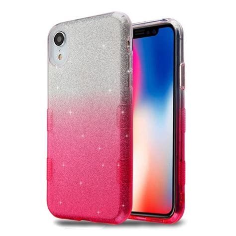 tuff glitter hybrid protective for iphone xr gradient pink hd accessory