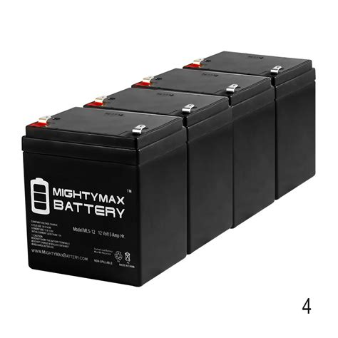 mighty max 4 pack ml5 12 12v 5ah battery for craftsman
