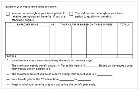 Unemployment Insurance Determination Letter Kansas Learning The Result Of Your Application For Benefits Twc
