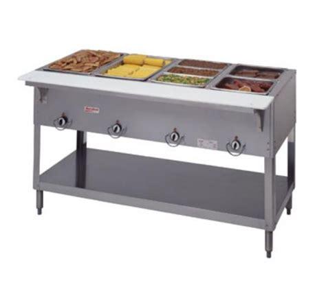 countertop propane steam table duke e304sw aerohot steam table w 4 sealed wells