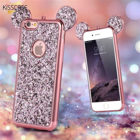 Luxury 3d Phone For Iphone 7plus kisscase for iphone 7plus luxury gradient glitter 3d minnie mickey mouse ear