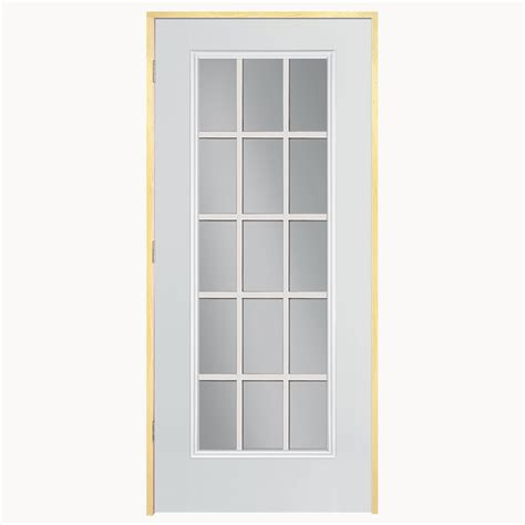 Lowes Prehung Exterior Doors Shop Reliabilt 15 Lite Prehung Outswing Steel Entry Door