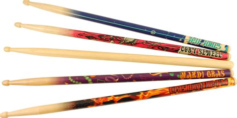 Handmade Drumsticks - these are just a few of the personalized drumsticks from